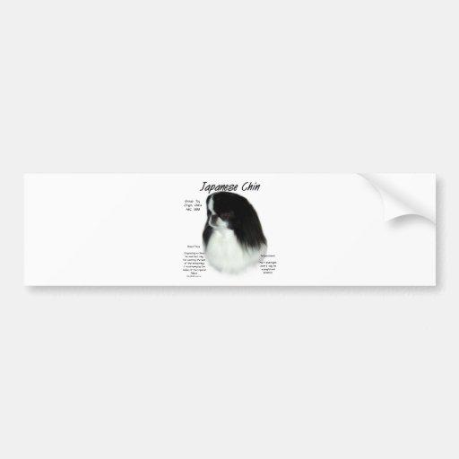 Japanese Chin History Design Bumper Stickers