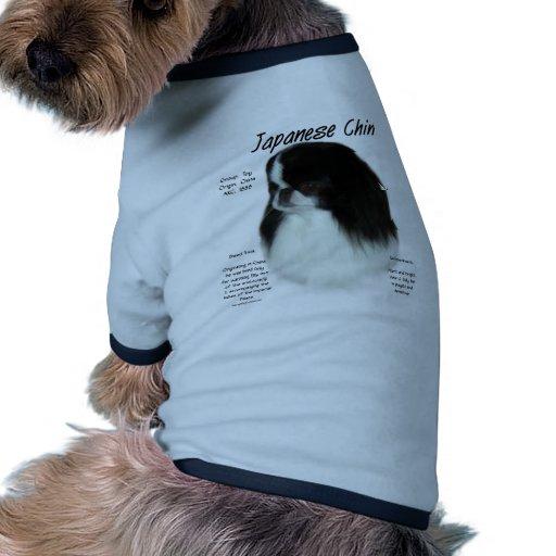 Japanese Chin History Design Dog Tshirt