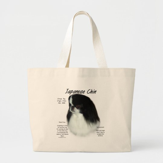 Japanese Chin History Design Large Tote Bag