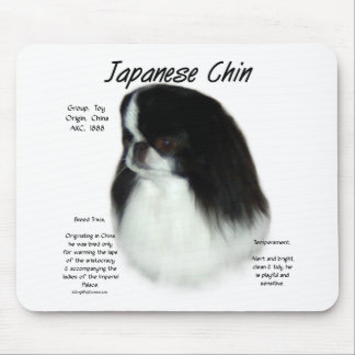 Japanese Chin History Design Mouse Mat
