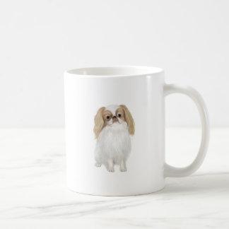 Japanese Chin (Lemon / white) Basic White Mug