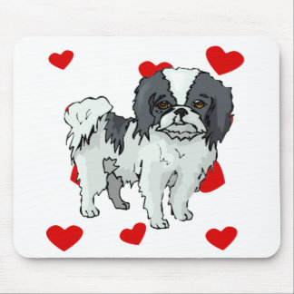 Japanese Chin Love Mouse Pads