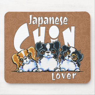 Japanese Chin Lover Mouse Pad