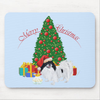 Japanese Chin Merry Christmas Mousepads