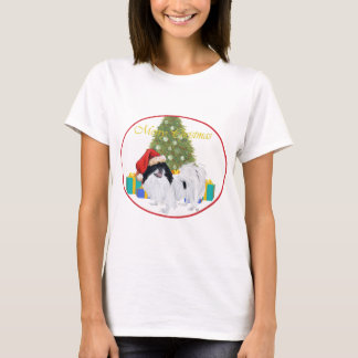 Japanese Chin Merry Christmas T-Shirt