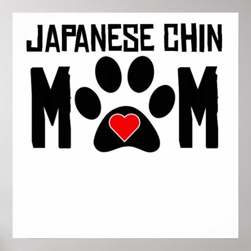 Japanese Chin Mom Poster