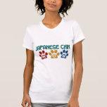 JAPANESE CHIN Mum Paw Print 1 Tee Shirts