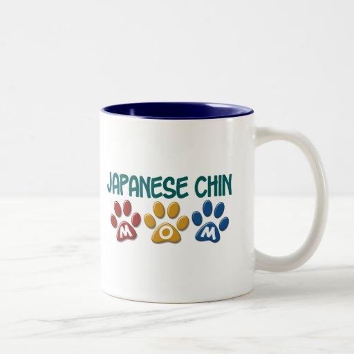 JAPANESE CHIN Mum Paw Print 1 Two-Tone Mug