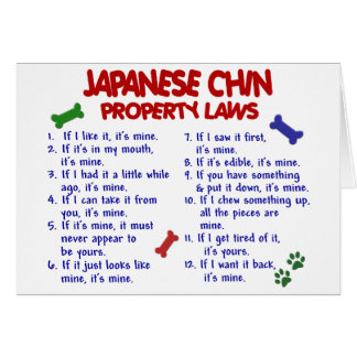 JAPANESE CHIN Property Laws 2 Card