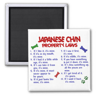 JAPANESE CHIN Property Laws 2 Square Magnet