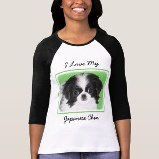 Japanese Chin Puppy Painting - Original Dog Art T-Shirt