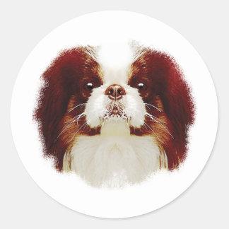 Japanese Chin Round Sticker