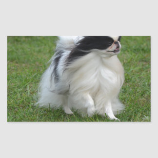 Japanese Chin Rectangle Stickers
