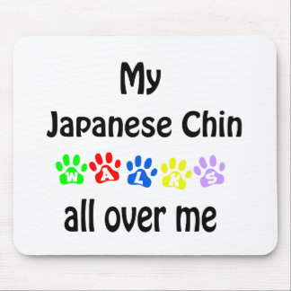 Japanese Chin Walks Design Mouse Pad