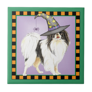 Japanese Chin Witch Small Square Tile