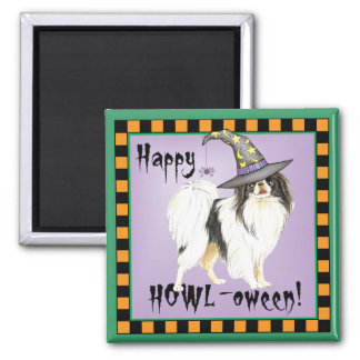 Japanese Chin Witch Square Magnet