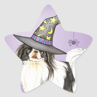 Japanese Chin Witch Stickers