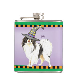 Japanese Chin Witch Hip Flasks
