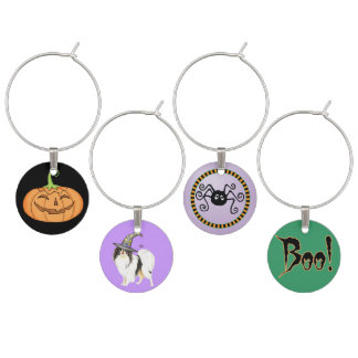 Japanese Chin Witch Wine Glass Charm