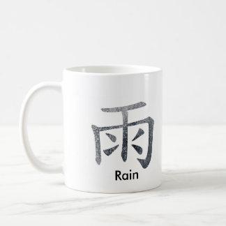 Japanese / Chinese Rain Coffee Mug