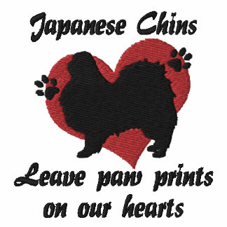 Japanese Chins Leave Paw Prints Sweatshirts