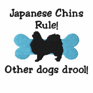 Japanese Chins Rule Embroidered T-Shirt
