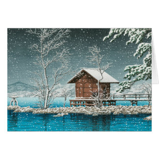 Japanese Christmas Snow Card