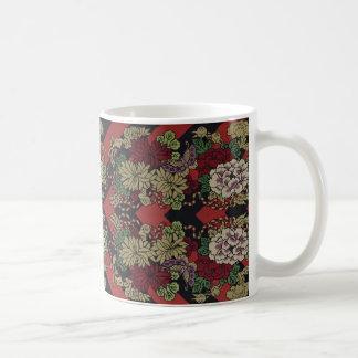 Japanese Chrysanthemums & Chevrons Mug