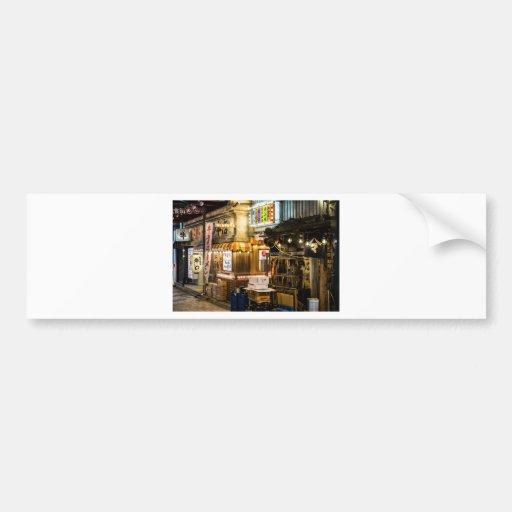 Japanese City Scene Bumper Sticker