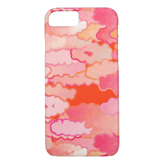 Japanese Clouds, Sunset, Coral, Fuchsia, Pink iPhone 8/7 Case