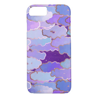 Japanese Clouds, Twilight, Violet and Deep Purple iPhone 8/7 Case