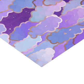 Japanese Clouds, Twilight, Violet and Deep Purple Tissue Paper