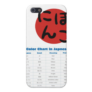 Japanese Color Chart Phone Case Cover For iPhone 5
