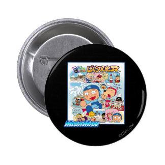 Japanese Comic 6 Cm Round Badge