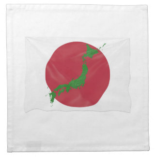 Japanese country flag napkin