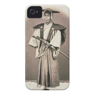 Japanese Court Official or Samurai, c.1870s (hand- iPhone 4 Covers