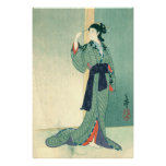 Japanese Courtesan (canvas) Posters