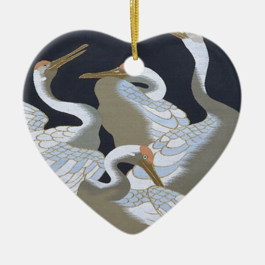 JAPANESE CRANE CHRISTMAS ORNAMENT