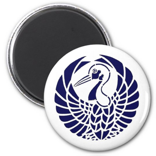Japanese Crane Crest Magnet