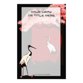 Japanese Crane Stationery