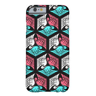 Japanese Cranes, Coral, Turquoise and Black Barely There iPhone 6 Case