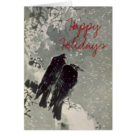 Japanese Crows Holiday Card