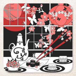 Japanese cuisine square paper coaster