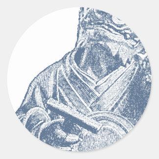 Japanese demon, 18th-century round sticker