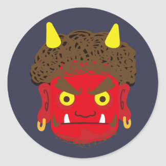Japanese Demon Classic Round Sticker