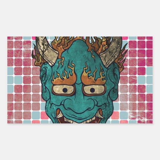 Japanese Demon Rectangular Sticker