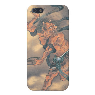 Japanese Demon with Horns and Brush iPhone 5/5S Cases