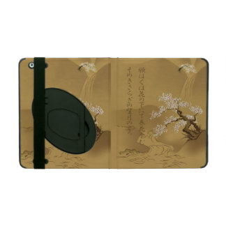 Japanese Design :: Sakura by the River sepia style iPad Covers