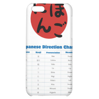 Japanese Direction Chart iPhone 5C Case