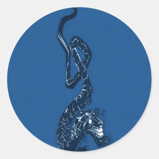 Japanese dragon design stickers